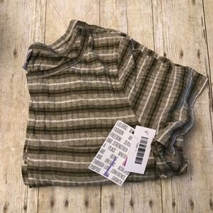 LuLaRoe Carly - Size L - Brown & White Stripes